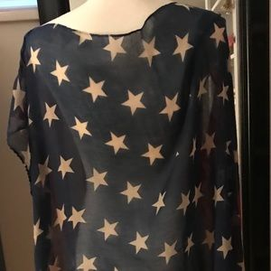 Unknown Tops - American Flag Overlay/ Cape